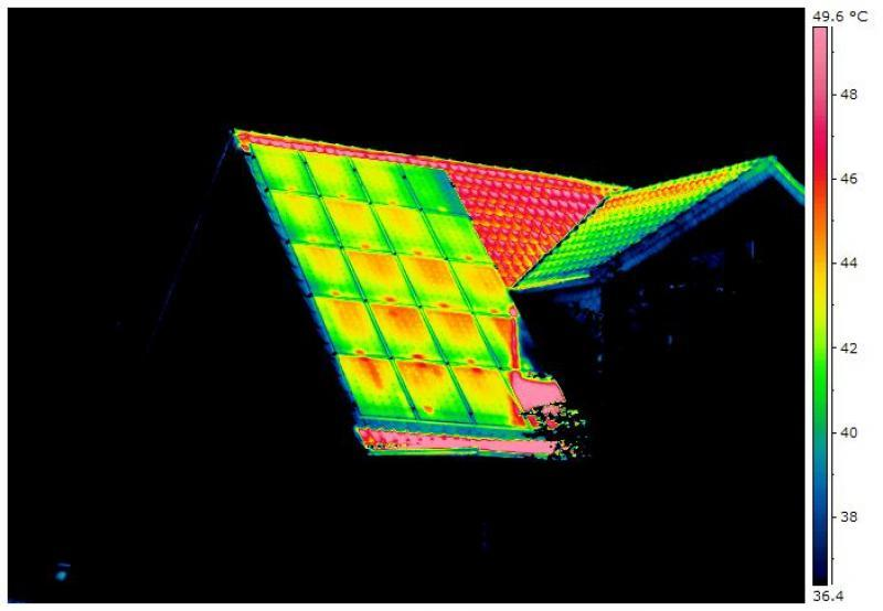On-roof thermography - different error indications