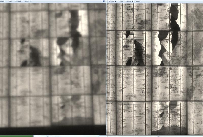 links einfache Kameraqualität - rechts hochauflösende SYSWE Insitu-Aufnahme