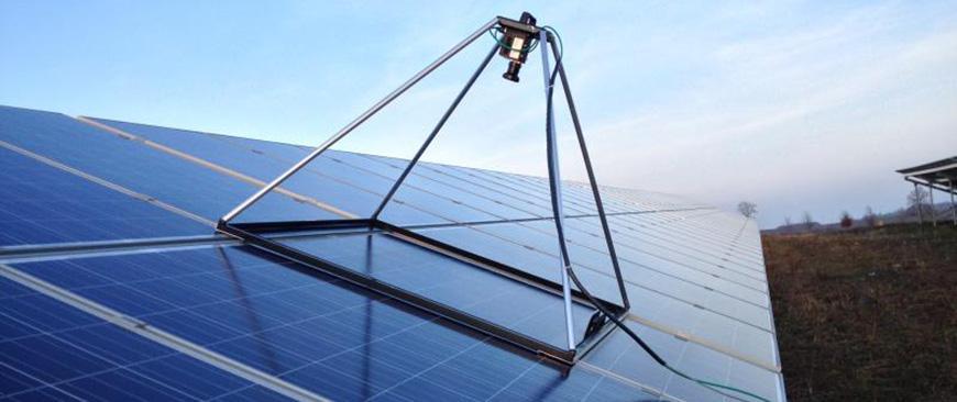 Hochauflösende Aufdach-Elektrolumineszenz