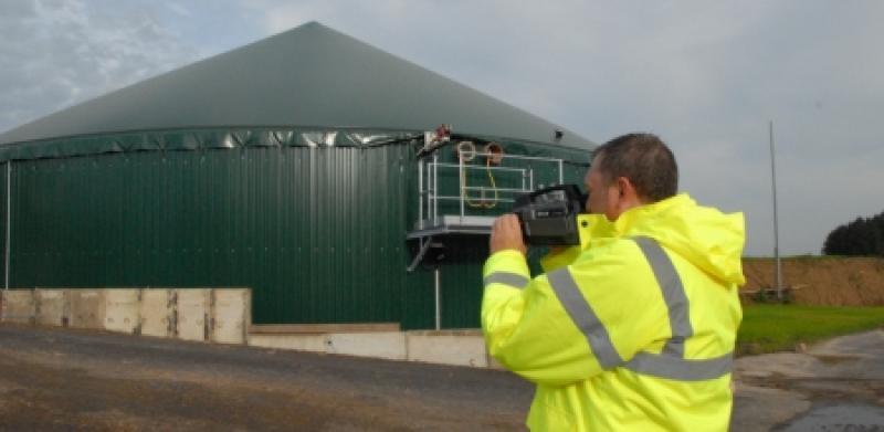 Leckagen bei Biogas-Anlagen ermitteln