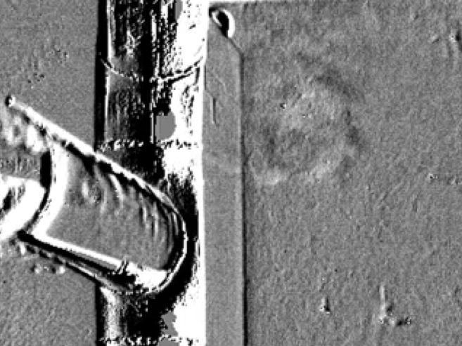 Gasleckage an einem Leitungsrohr